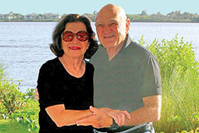 Photo of Dr. Sheldon Zane with his wife Elaine. Link to their story.